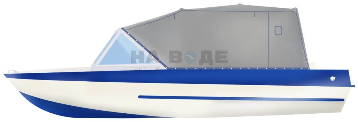 Ходовой тент на лодку Крым-М комплектация Эконом - фото 1