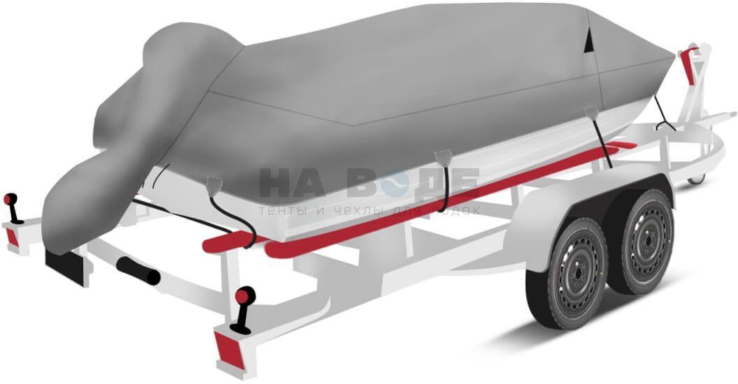 Транспортировочный тент на лодку Quintrex 475 Coast Runner комплектация с накрытием мотора - фото 1
