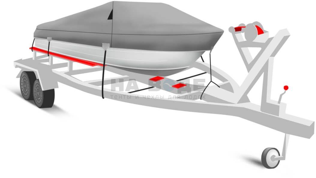 Транспортировочный тент на лодку Quintrex 475 Coast Runner комплектация Классик - фото 1