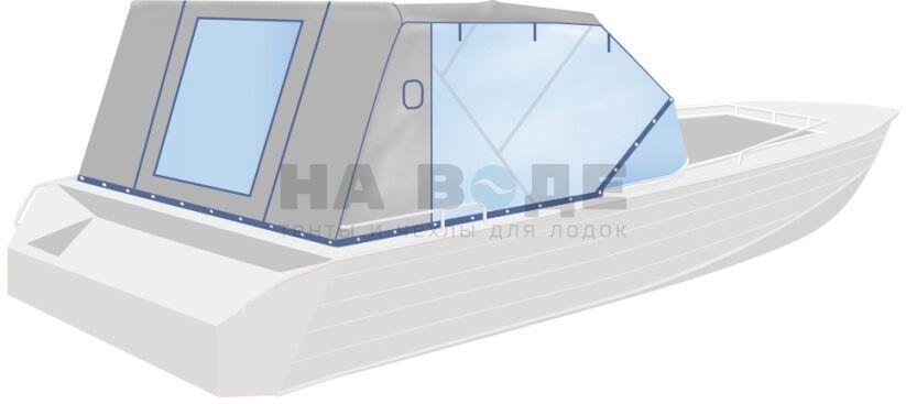 Ходовой тент на лодку Wyatboat-430 DCM комплектация Капитан - фото 3