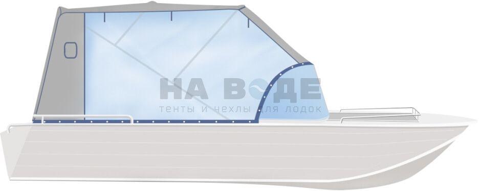 Ходовой тент на лодку Wyatboat-430 DCM комплектация Капитан - фото 1