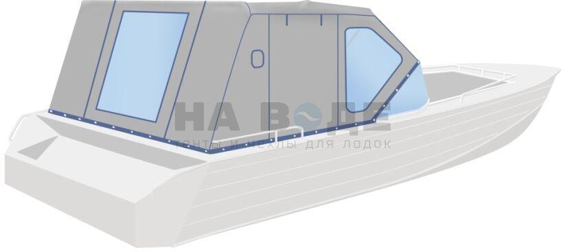 Ходовой тент на лодку Wyatboat-430 DCM комплектация Комфорт - фото 3