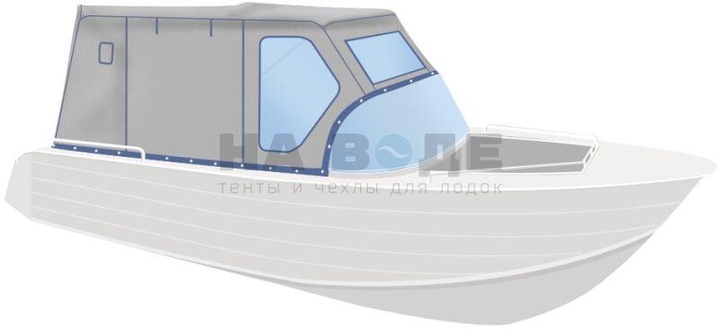 Ходовой тент на лодку Wyatboat-430 DCM комплектация Комфорт - фото 2