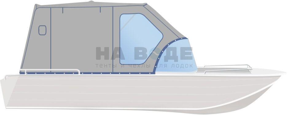 Ходовой тент на лодку Wyatboat-430 DCM комплектация Комфорт - фото 1