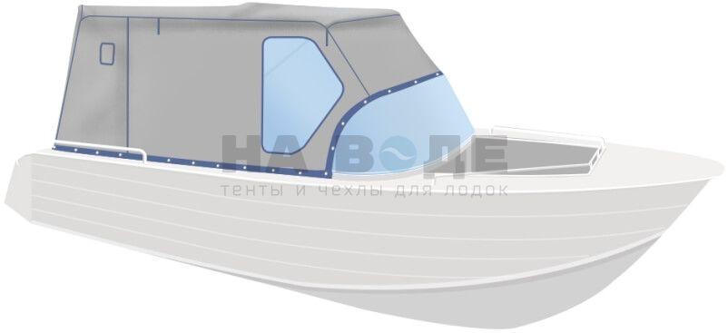 Ходовой тент на лодку Wyatboat-430 DCM комплектация Стандарт - фото 2