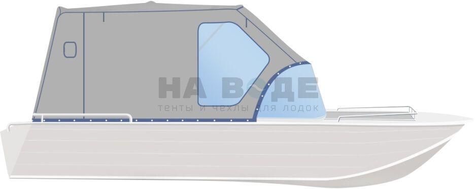 Ходовой тент на лодку Wyatboat-430 DCM комплектация Стандарт - фото 1