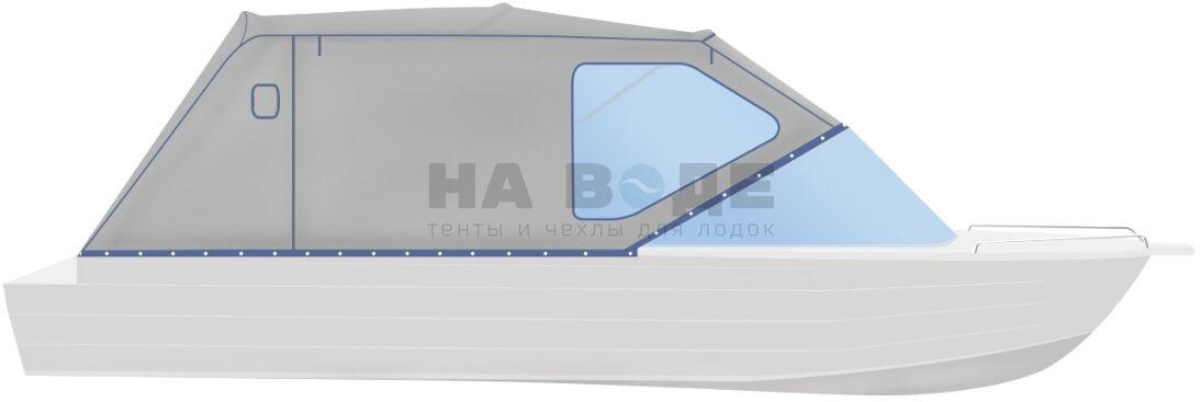Ходовой тент на лодку Quintrex 475 Coast Runner комплектация Стандарт - фото 1