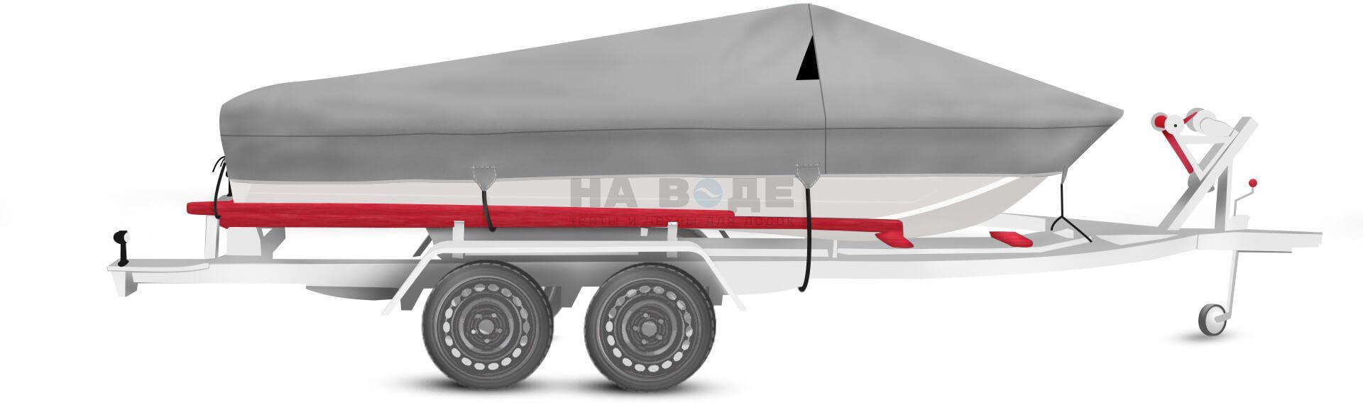 Транспортировочный тент на лодку Wyatboat-430 DCM комплектация Классик - фото 1