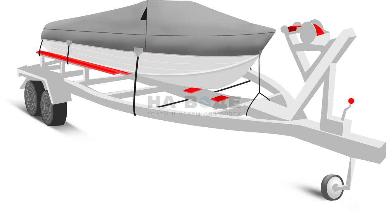 Транспортировочный тент на лодку Wyatboat-430 DCM комплектация Классик - фото 2