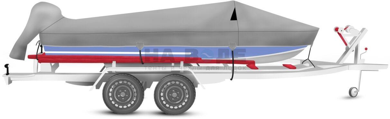 Транспортировочный тент на лодку Прогресс 4 комплектация с накрытием мотора - фото 1