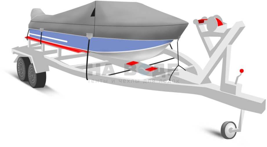 Транспортировочный тент на лодку Прогресс 4 комплектация с накрытием мотора - фото 2