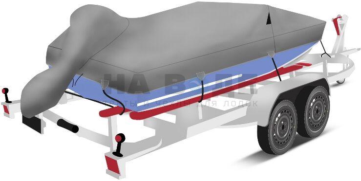 Транспортировочный тент на лодку Прогресс 4 комплектация с накрытием мотора - фото 3