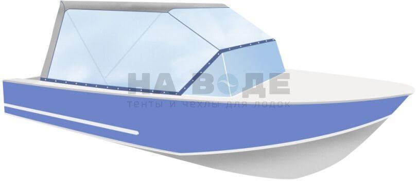 Ходовой тент на лодку Прогресс 4 комплектация Универсал - фото 2