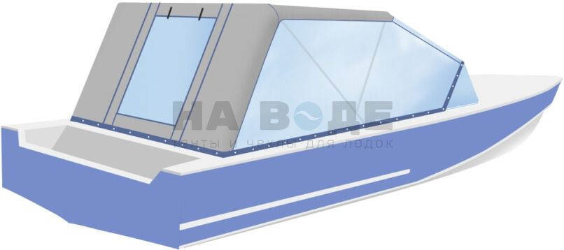 Ходовой тент на лодку Прогресс 4 комплектация Универсал - фото 3