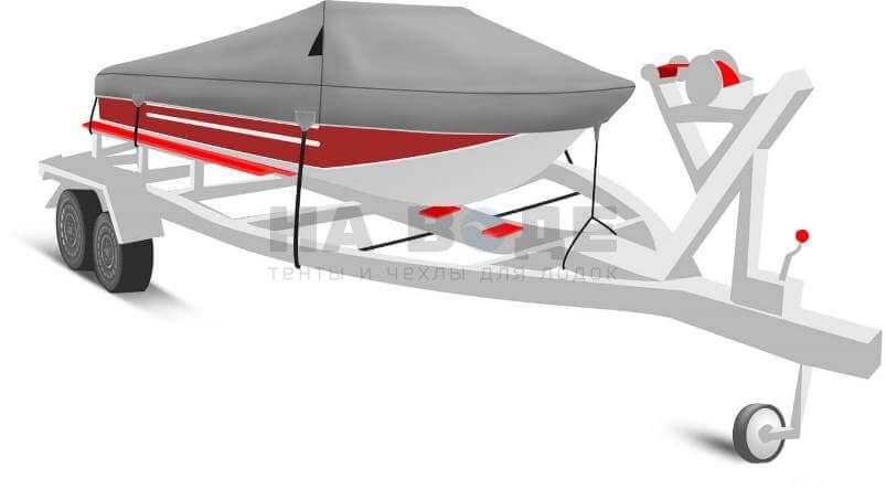 Транспортировочный тент на лодку Ока 4 комплектация Классик - фото 1