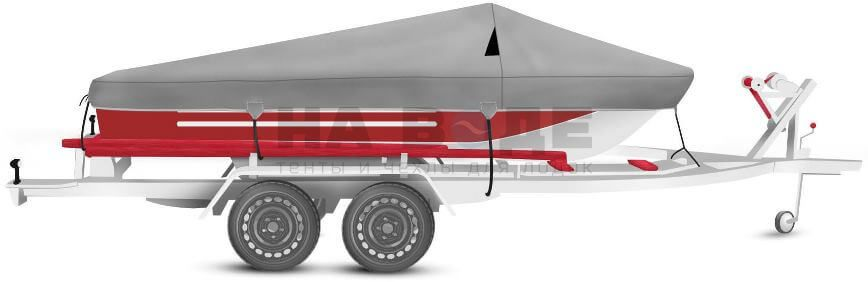 Транспортировочный тент на лодку Ока 4 комплектация Классик - фото 2