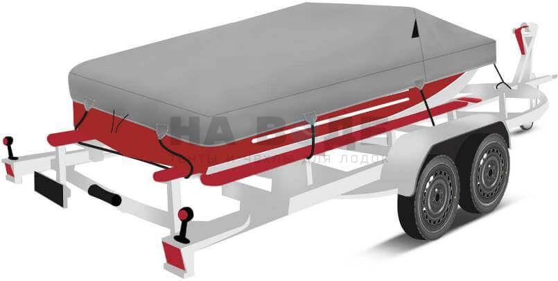 Транспортировочный тент на лодку Ока 4 комплектация Классик - фото 3