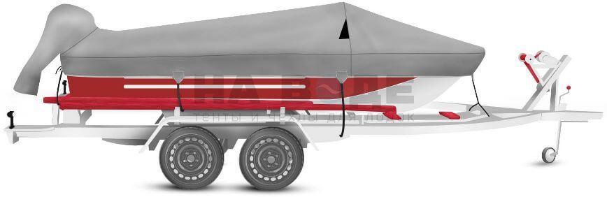 Транспортировочный тент на лодку Ока 4 комплектация с накрытием мотора - фото 2