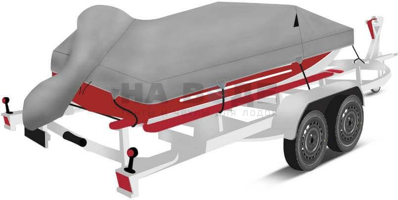 Транспортировочный тент на лодку Ока 4 комплектация с накрытием мотора - фото 3