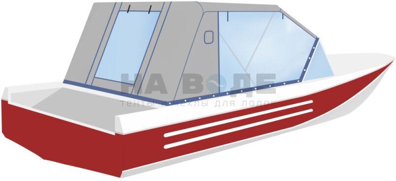 Ходовой тент на лодку Ока 4 комплектация Капитан - фото 3