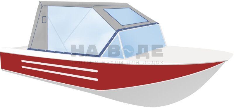 Ходовой тент на лодку Ока 4 комплектация Капитан - фото 2