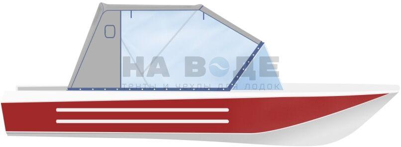 Ходовой тент на лодку Ока 4 комплектация Капитан - фото 1