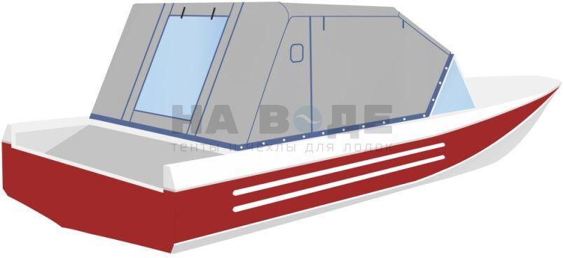 Ходовой тент на лодку Ока 4 комплектация Эконом - фото 3