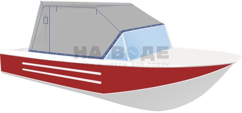 Ходовой тент на лодку Ока 4 комплектация Эконом - фото 2