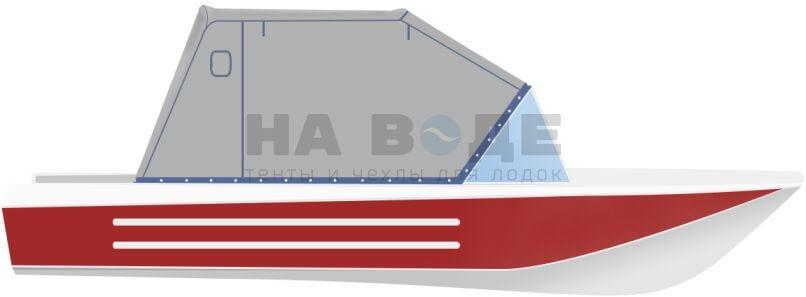 Ходовой тент на лодку Ока 4 комплектация Эконом - фото 1