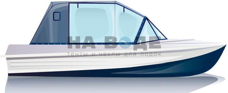 Ходовой тент на лодку Казанка-5М комплектация Капитан - фото 1