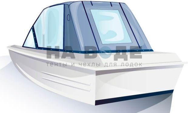 Ходовой тент на лодку Казанка-5М комплектация Капитан - фото 3