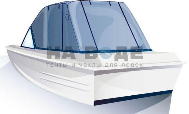 Ходовой тент на лодку Казанка-5М комплектация Эконом - фото 3