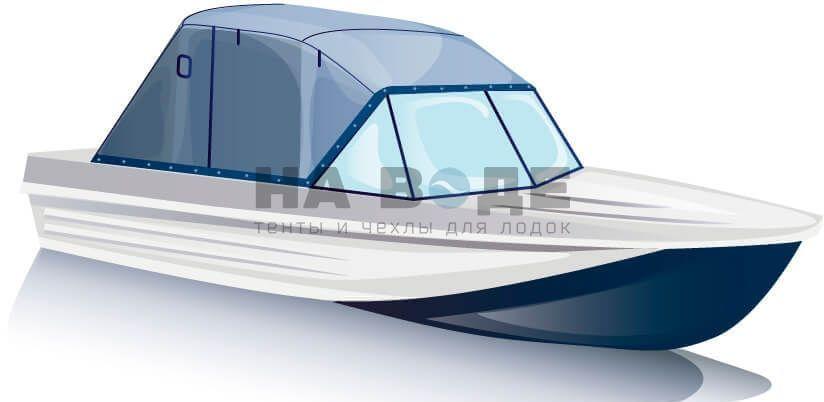 Ходовой тент на лодку Казанка-5М комплектация Эконом - фото 2