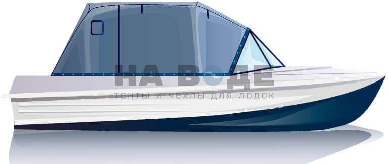 Ходовой тент на лодку Казанка-5М комплектация Эконом - фото 1