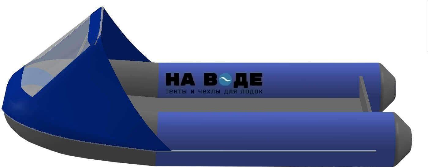 Тент носовой с окном на лодку AZIMUT (Азимут) Taifun 380 - фото 3
